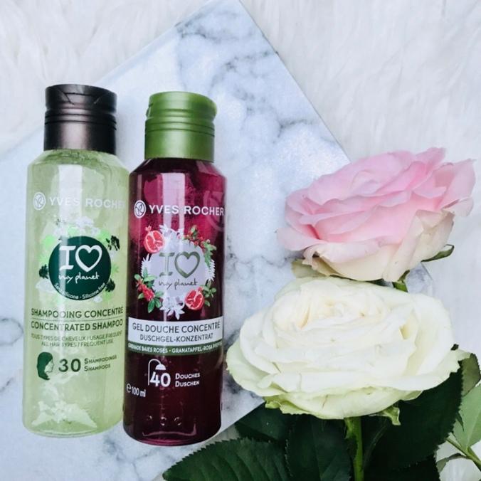 ONCLOUDNOIR - Yves Rocher, i love my plant, geconcentreerde douchegel en shampoo